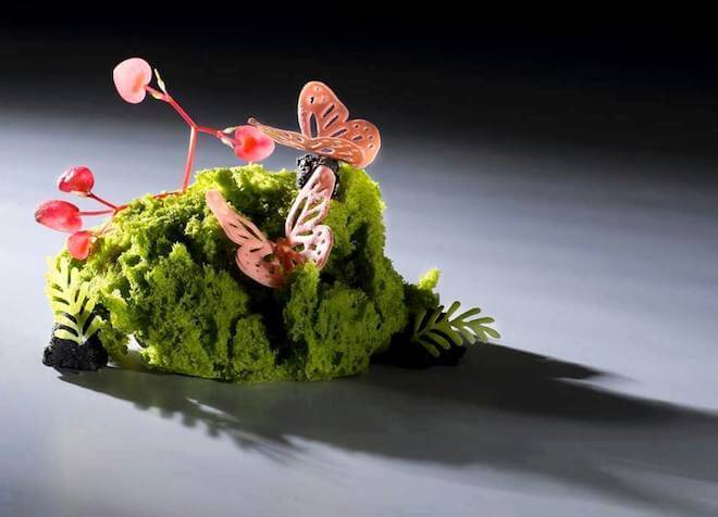 Basil Chocolate Butterfly at Gaggan. Image courtesy of Gaggan Facebook Page